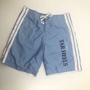 NCAA UNC Tarheel blue swim trunks